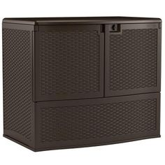 Store patio cushions, grilling accessories and other outdoor items in this Backyard Oasis Vertical Deck Box designed by Suncast. Patio Storage, Shed Storage, Storage Spaces, Outdoor Storage, Patio Cushion Storage, Storage Bins, Storage Solutions, Storage Ideas, Outside Cushions
