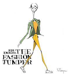 Fashion illustration for The Fashion Jumper, Edi Enache