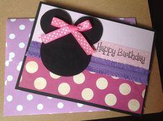Handmade Minnie Mouse birthday card Minnie by PinkyPromiseBargains, $3.00