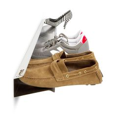 j-me Horizontal Stainless Steel Wall-mount Shoe Rack - Overstock™ Shopping - Great Deals on Decorative Organizers