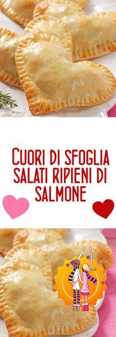 Cuori di sfoglia salati ripieni di salmone, la ricetta di San Valentino