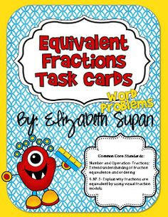 Equivalent Fraction Task Cards {Short Giveaway}