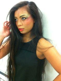 Socheata sporting catwalk makeup #bridalicious #catwalkmakeup #standout