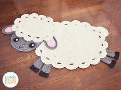 NEW PATTERN Baa Baa Easter Lamb Rug PDF Crochet Pattern with