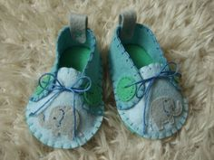 Baby Elephant Felt Baby Shoes  Can Be by sweetemmajean on Etsy, $48.00
