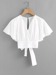 Shop Deep V-cut Split Back Bow Tie Blouse online. ROMWE offers Deep V-cut Split Back Bow Tie Blouse & more to fit your fashionable needs. Fashion Clothes, Girl Fashion, Fashion Dresses, Womens Fashion, Party Fashion, Fashion Styles, Style Fashion, Fashion Tips, Bow Tie Blouse