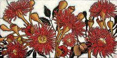 Julie Hickson - Gum Blossom. Acrylic on canvas
