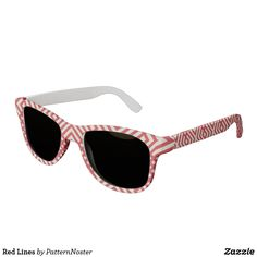 'Red Lines' Sunglasses  #redandwhite #giftideas #sunglasses #shades #red #gifts