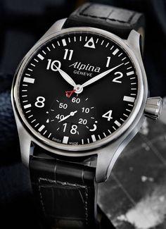 Alpina Startimer. Professional pilot quartz watch.