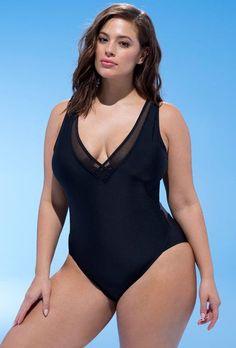 Plus Size Swimsuit - Ashley Graham x swimsuitsforall Presidenta Swimsuit