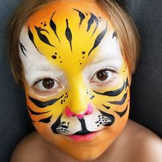 My cub . My tigrito . Tag Face Paint, Tiger Face Paints, Cubs, Carnival, Nyc, Painting, Bear Cubs, Carnavals, Painting Art