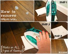This is a super easy trick to get spilled wax off of any type of flooring, even clothes! | Ask Anna