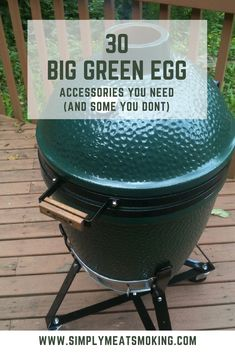 All The Big Green Egg Accessories You Could Ever Need [October Smoker Cooking smoker recipes on big green egg Big Green Egg Smoker, Big Green Egg Table, Big Green Egg Grill, Green Eggs And Ham, Big Green Egg Pizza, Big Green Egg Accessories, Bbq Accessories, Bbq Pitmasters, Healthy Grilling Recipes