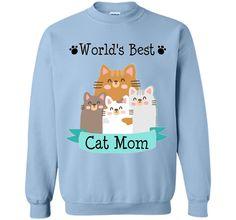 World's Best Cat Mom T-Shirt, Cute Cat Mom Kitty T-Shirt