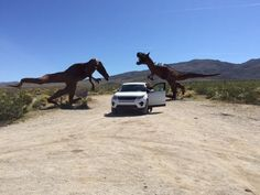 2015 Disco Vs Dino's. From the time land forgot. Otherwise known as Borrego Springs #LandRover #RangeRover #Defender #4x4 #Essex