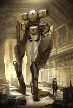 T Rex Mech by eddie-mendoza Ghost in the Shell Appleseed Metal Gear mecha robot armor clothes clothing fashion player character npc | Create your own roleplaying game material w/ RPG Bard: www.rpgbard.com | Writing inspiration for Dungeons and Dragons DND D&D Pathfinder PFRPG Warhammer 40k Star Wars Shadowrun Call of Cthulhu Lord of the Rings LoTR + d20 fantasy science fiction scifi horror design | Not Trusty Sword art: click artwork for source