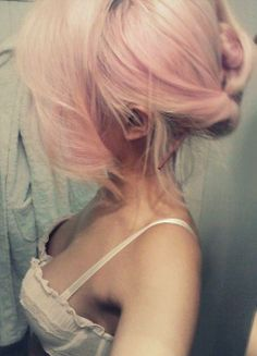 Pastel Pink Hair in Bun