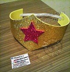 Tiara Mulher ayliMaravilha com Glít Aylin Superhero Birthday Party, Diy Birthday, Birthday Parties, Wonder Woman Birthday, Wonder Woman Party, Super Hero Day, Wedding With Kids, Crafts For Kids, Birthday Party Ideas