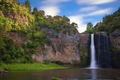 Scenery, Waioeka Scenic Reserve, Waterfall, Auckland, New Zealand wallpapers