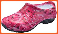 04355bc45e9 Anywear Slip Resistant Injected Closed Back Clog | Red Swirl Size 11 -  Mules and clogs