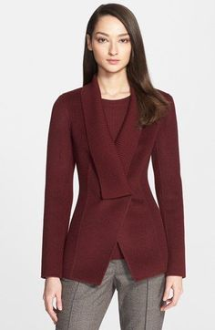 St. John Collection Double Face Wool Blend Jacket available at #Nordstrom