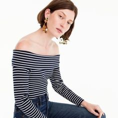 My Style J.Crew Style J.Crew Striped Tee#NarrativeStyleOutfitsDC Stylist Lana Jackson | Shop The Look Off-The-Shoulder Foldover Top in Stripe Striped TeeWomen's Fashion Casual Women's Style Casual Casual Outfits Spring Outfits Fashion Spring Outfits Striped Shirt Outfit Off The Shoulder Outfits Spring Style #JCREW #JCrewStyle #OffTheShoulder #ShopTheLook #SpringOutfits#SpringStyle#Affiliate#CasualOutfits#WomensFashion#WomensStyle#StripedTee #SpringFashion #SpringStyle