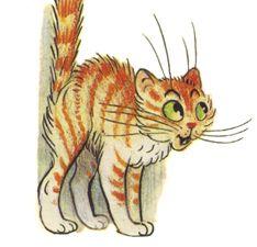 Испуганная кошка картинки для детей