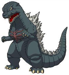godzilla by benisuke on DeviantArt Godzilla Tattoo, Animated Spider, Monster Strike, Monster Pictures, Attack On Titan Art, Transformers Art, Monster Art, King Kong, Character Illustration