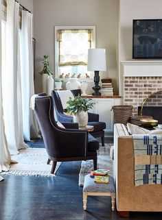 Stylist Natalie Nassar's Atlanta home which she shares with her husband, 18 month old Noura, and a baby on the way