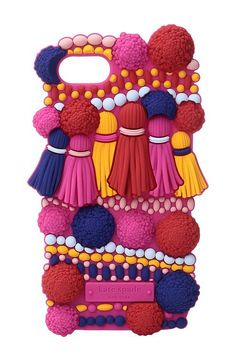 Kate Spade New York Silicone Pom Pom Phone Case for iPhone 7 (Multi) Cell Phone Case - Kate Spade New York, Silicone Pom Pom Phone Case for iPhone 7, 8ARU1848-974, Bags and Luggage Small Goods Cell Phone Case, Cell Phone Case, Small Goods, Bags and Luggage, Gift - Outfit Ideas And Street Style 2017