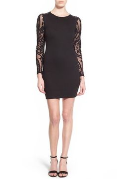 Soprano Illusion Sleeve & Back Body-Con Dress available at #Nordstrom