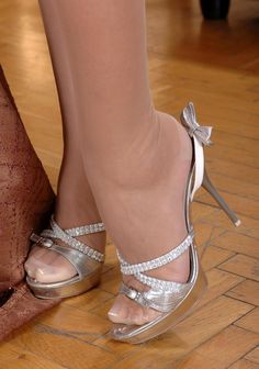 1000+ images about Bridesmaid Shoes on Pinterest | Silver strappy ...