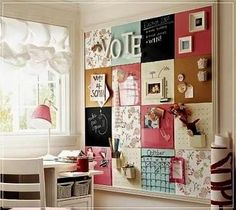 Wish I had a wall with enough room in my house to do something like this. I would love to have this in my kitchen.  (DIY) Wall organization