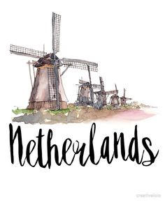 'Netherlands' Photographic Print by creativelolo Snapchat Stickers, Travel Illustration, Hipster Illustration, Travel Drawing, City Wallpaper, Story Instagram, Urban Sketching, Art Mural, Instagram Highlight Icons