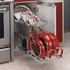 Rev-A-Shelf 5CW2 Two-Tier Cookware Organizer Cabinet Organization - $101 - Depth22 inches Height18 inches Width11¾ inches