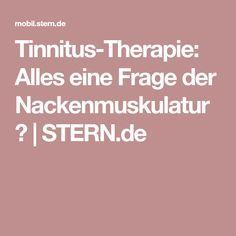Tinnitus-Therapie: Alles eine Frage der Nackenmuskulatur? | STERN.de