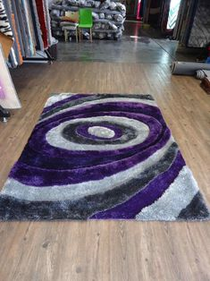 Handmade Purple & Gray Dimensional Shag Area Rug with Hand Carved Design Tibetan Rugs, Target Rug, Purple Grey, Gray, Purple Area Rugs, Grey Rugs, Rugs Online, Hand Carved, Carving