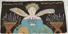 Herb Angel by Notforgotten Farm - beautifully hooked by Liz Gordon