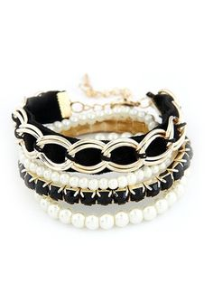 Fashion Attractive Personality All Match Woven Pearl Women's Bracelet