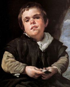 "Diego Velazquez: The Dwarf Francisco Lezcano, Called ""El Nino de Vallecas"" (detail)"