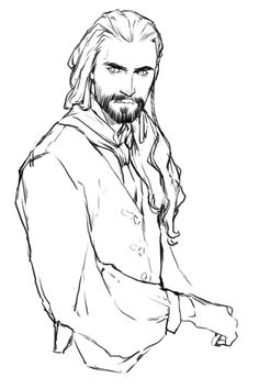 Thorin Oakenshield, wearing what looks like pirate clothes