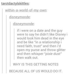And then my poor boyfriend just gets covered in glitter anyway because he's rolling with a Disney girl...