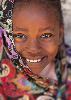 Portrait Of A Cute Girl In Lamu, Kenya by Eric Lafforgue