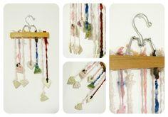 Handspun Yarn Shop and Fiber Art Blog by Neauveau: Upcycled Art Yarn Mobile