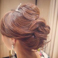#ヘアアレンジ #ヘアセット #ヘアスタイル #ヘア#ブライダル#hair #hairarrange #bridal#wedding #ティアラ#ルーズ#ルーズアレンジ
