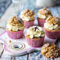 Pullat   muffinssit = puffinssit Mini Cupcakes, Baking Recipes, A Food, Cocoa, Pie, Sweets, Cookies, Chocolate, Breakfast