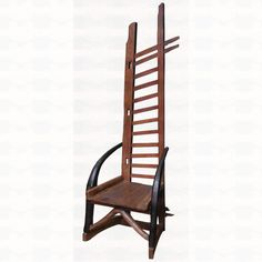 The Groovystuff Teak Sundance Ladder Chair is a Southwestern design staple. Made from recycled teak wood, this amazing chair features a wagon sideboard panel for the decorative back, an ox yoke for the seat support, and grain plows for arm rests. Outdoor Chairs, Outdoor Furniture, Outdoor Decor, Ladder Chair, Western Furniture, Teak Wood, Design, Home Decor, Decoration Home