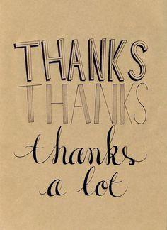 Be grateful. thanks