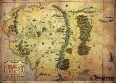 The Hobbit - Mapa - plakat - 140x100 cm  Gdzie kupić? www.eplakaty.pl