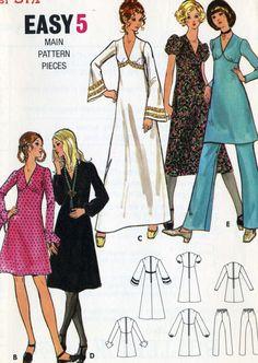 Vintage 70s Butterick 6023 UNCUT Misses V Neck by RomasMaison